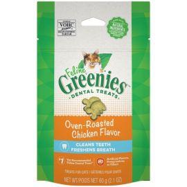 Greenies Feline Chews - Oven Roasted Chicken 60g size