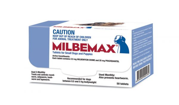Milbemax wormer for Small Dogs