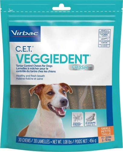 VeggieDent Dog Chews Small Dog 5-10kg  2 Packs Plus One Pack FREE PROMO