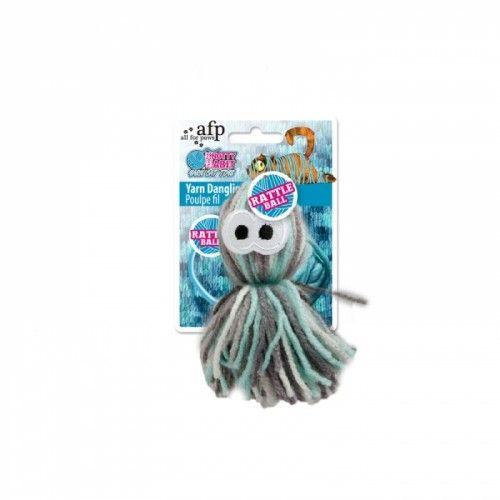Cat Toy - Yarn Dangling Octopus