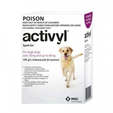 Activyl Large Dog 20-40kg 4-pk  ( exp end july 2021 )
