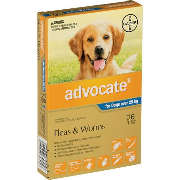 ADVOCATE X/Large Dogs >25kg 6-Pack