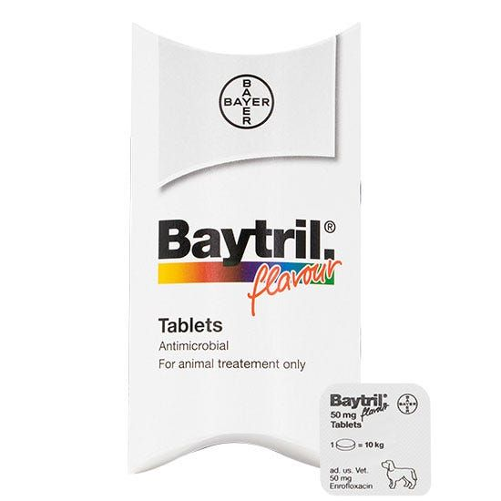 Baytril 50mg 100 Tablets Prescription required