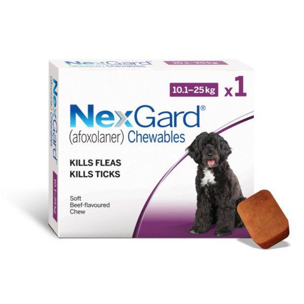 Nexgard for Medium Dogs  Pack 10-25kg SINGLE
