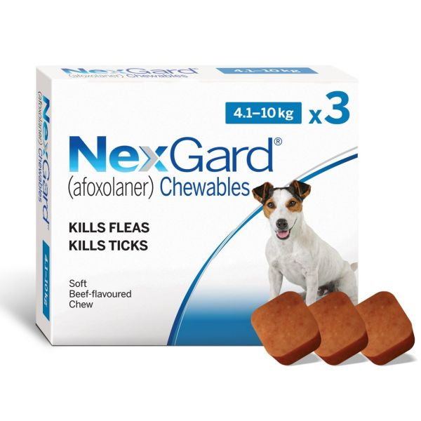 Nexgard  for  Small Dogs  3 Pack  4-10kg ( free singles no longer available-sold out)