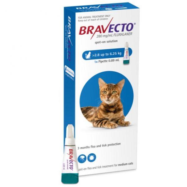 Bravecto Spot On for Cats Medium >2.8-6.25 kg