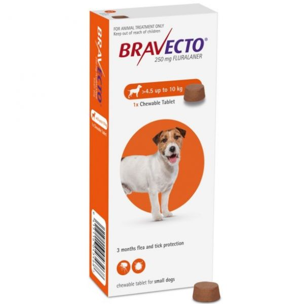 Bravecto 250mg Chewable Tablet for Small Dogs  4.5-10kg
