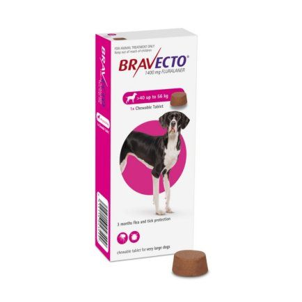 Bravecto 1400mg Chewable Tablet  Extra Large Dogs  40-56kg