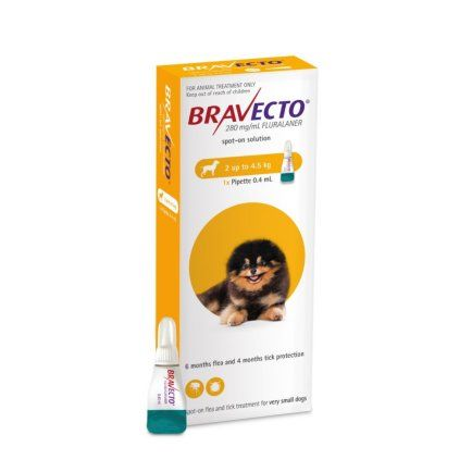 Bravecto  SPOT ON  solution for very small dogs dogs (2-4.5kg)