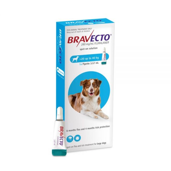Bravecto  SPOT ON  solution for large dogs (20-40kg) Blue
