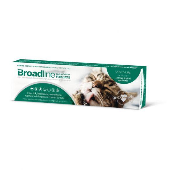 Broadline Flea & Worm  for Cats  2.5-7.5kg SINGLE