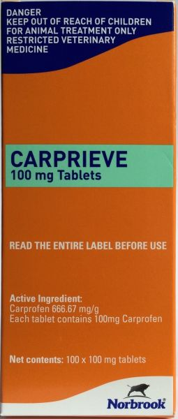 Carprieve 100mg   (sold in box of 100 tablets)   (Prescription required)