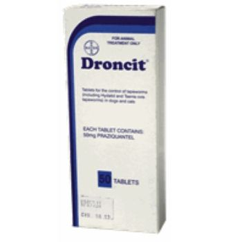 Droncit for dogs 50mg  ( 50 in a box)