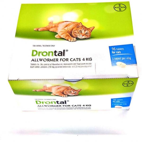 Drontal for Small Cats Bulk Pack of 96 tablets in foil