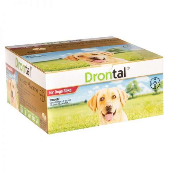 Drontal for Large Dogs new flavoured talets x  80