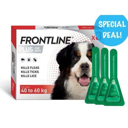 Frontline Plus for X-Large Dogs over 40-60kgs  3 x 3 packs Bulk Deal