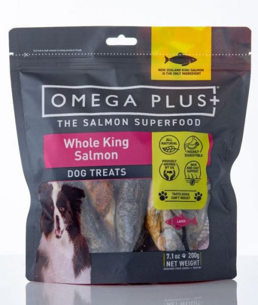 Omega Plus Whole King Salmon Dog Treats 200g