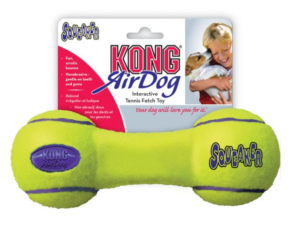 KONG Air Dumb Bell Squeaker Dog Toy Medium