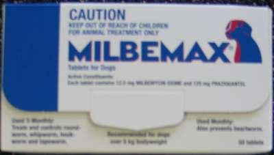 Milbemax wormer for Large Dogs