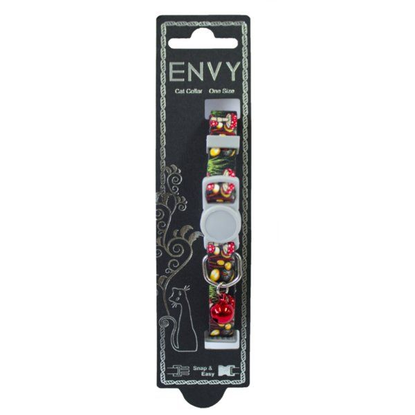 """Cat collar 'ENVY"""" Mushroom Red One size"""