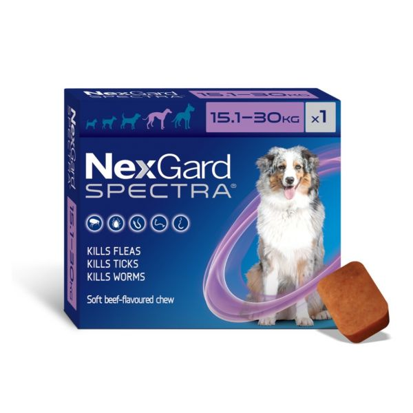 Nexgard Spectra Large dog 15.1-30kg  SINGLE