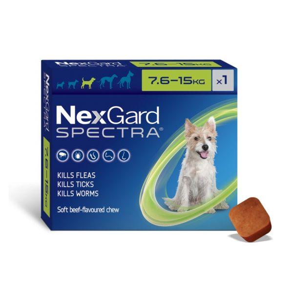 Nexgard Spectra medium dog 7.6-15kg SINGLE