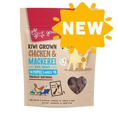 Yours Droolly Kiwi Grown Puppy Chicken & Mackerel Dog Treats 220g