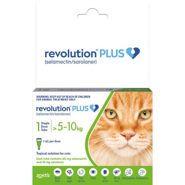 Revolution PLUS for cats LARGE 5-10kg  SINGLE