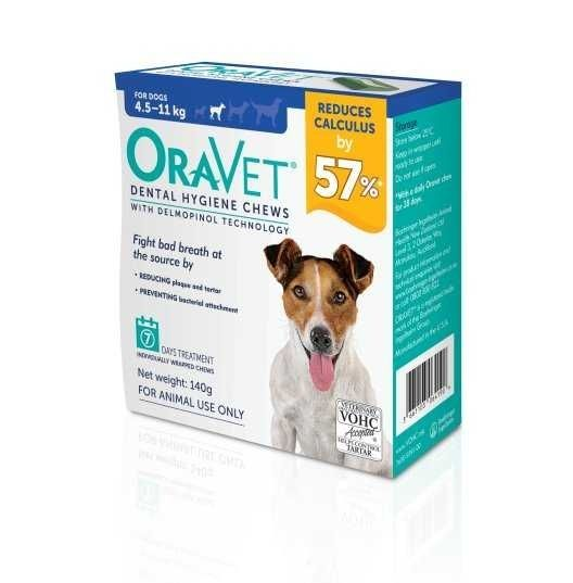 Oravet Dental Hygiene chews for S dogs  4.5-11kg ( pack of 7 )     BUY ONE BOX GET ONE BOX FREE exp 11/2021