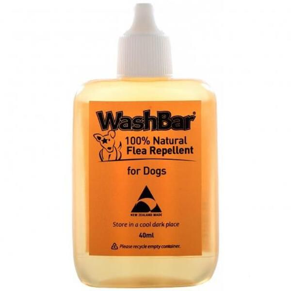 WashBar 100% Natural Flea Repellent for Dogs 40ml