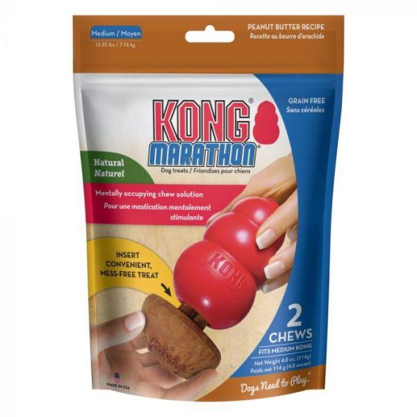 Kong Marathon Peanut Butter Dog Treat Medium Double Pack